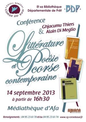"""Afa :  """"Littérature et poésie corse contemporaine"""""""