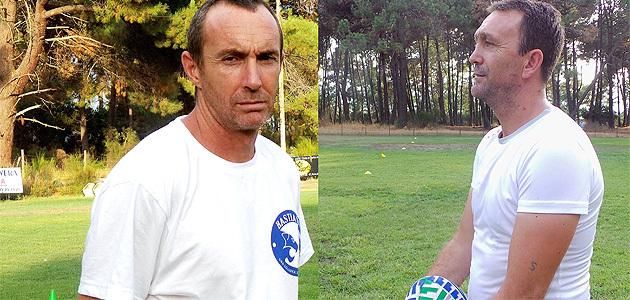Laurent Massabeau (à gauche) et Stéphane Labarrère : Une belle équipe avec Sam Lacombe