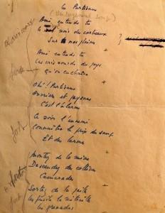 Le manuscrit original classé monument historique