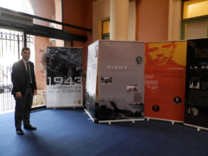 "Exposition ""Fondation Charles de Gaulle"" Mairie Ajaccio (Photo DGD)"