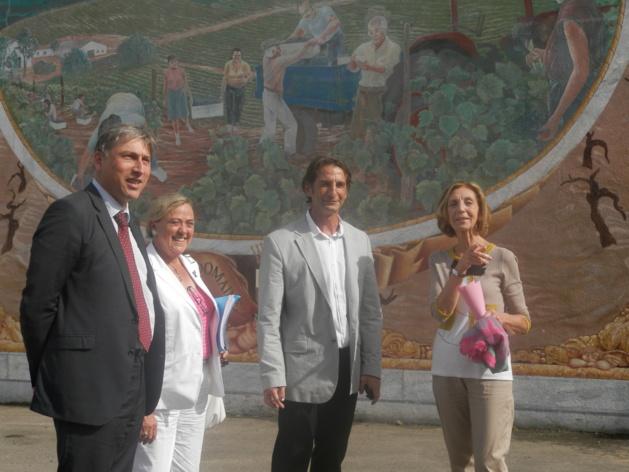 Mme Nicole Bricq, ministre du Commerce Extérieur au Domaine Peraldi ( Photos DGD)