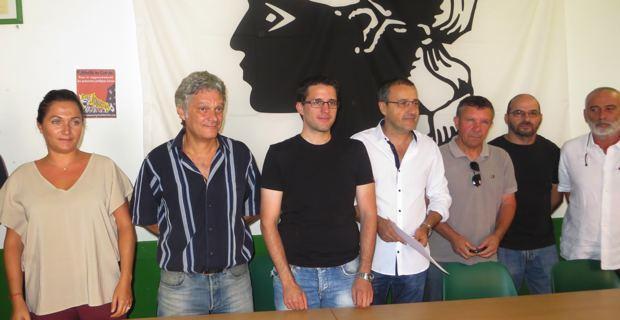 Les membres de l'Exécutif de Corsica Libera.