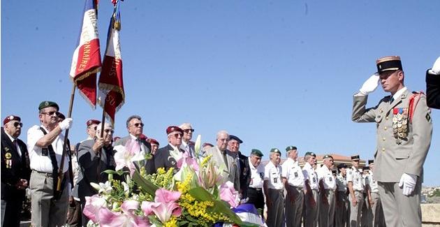 Libération de la Corse : Cérémonie à la Stèle du Bataillon de Choc de Calvi