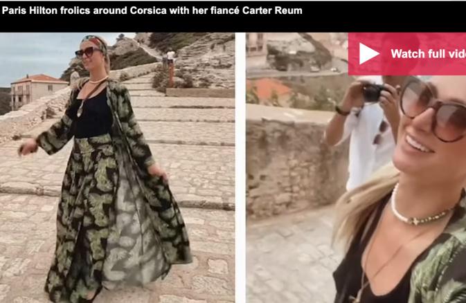 Vacances en Corse pour Paris Hilton