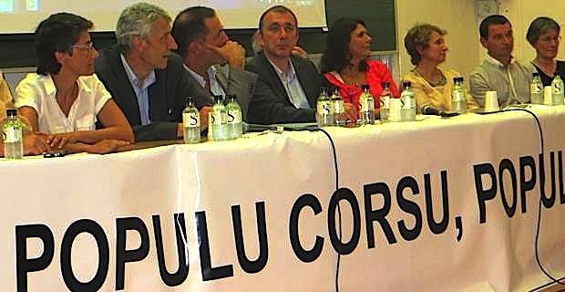 Les 11 élus territoriaux de Femu a Corsica.