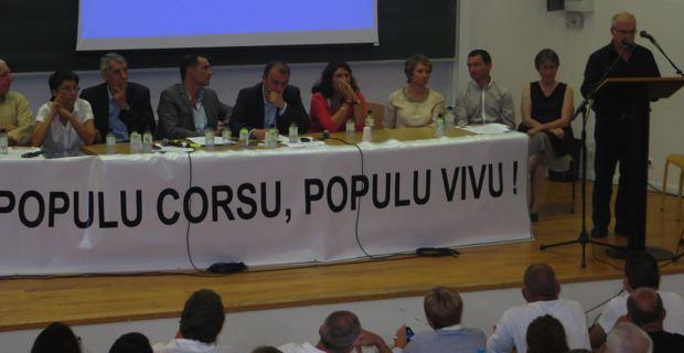 Les élus territoriaux de Femu a Corsica.