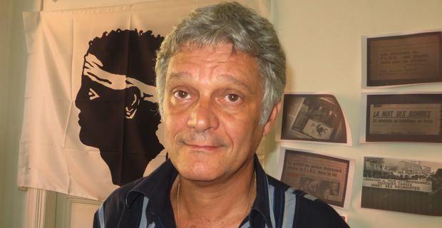 Eric Simoni, candidat de Corsica Libera aux élections municipales de mars 2014.