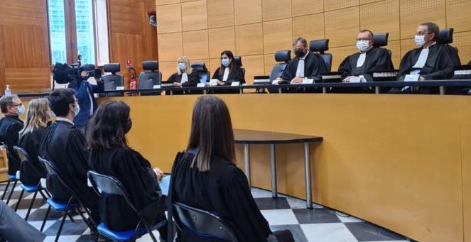 Les cinq nouveaux magistrats ont été présentés au tribunal avant de prendre leurs fonctions. (Photo Pierre-Manuel Pescetti)