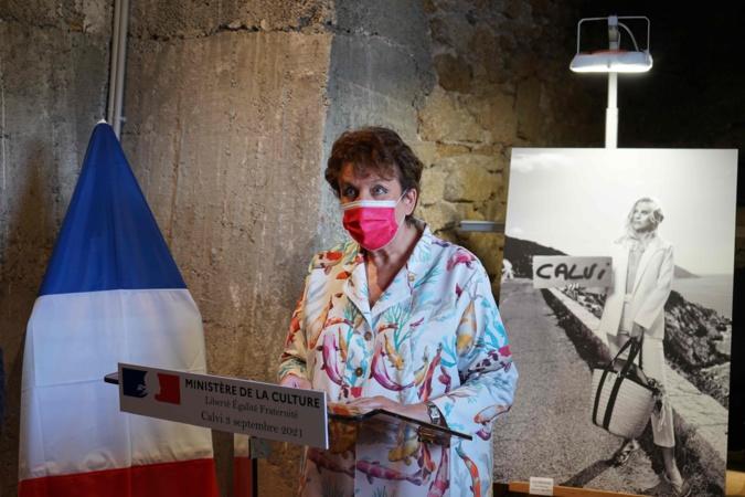 La Ministre de la culture, Roselyne Bachelot, inaugure la Tour de Sel à Calvi