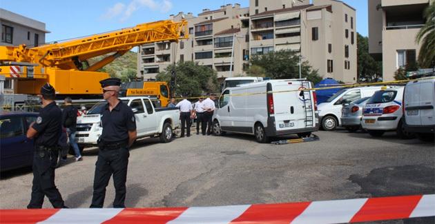 Les lieux de l'homicide. (Photo Lydie Colonna)