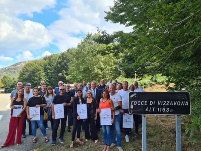 La liste a été présentée au col de Vizzavona ce lundi 6 septembre. Crédits Photo : Pierre-Manuel Pescetti