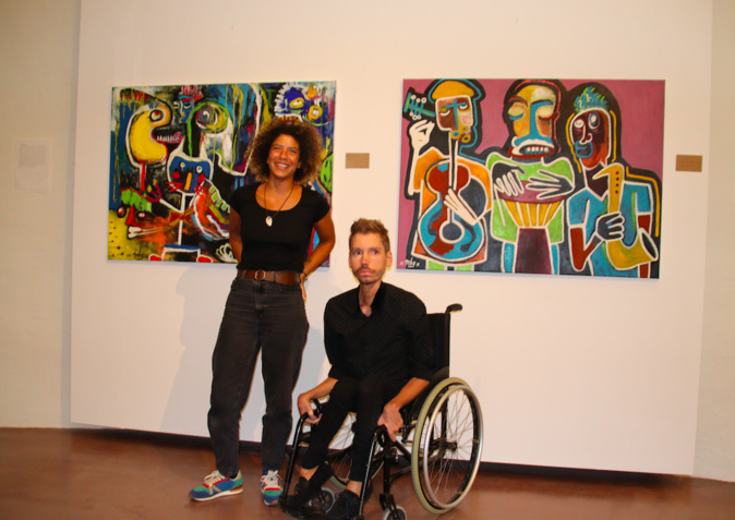 Les deux artistes