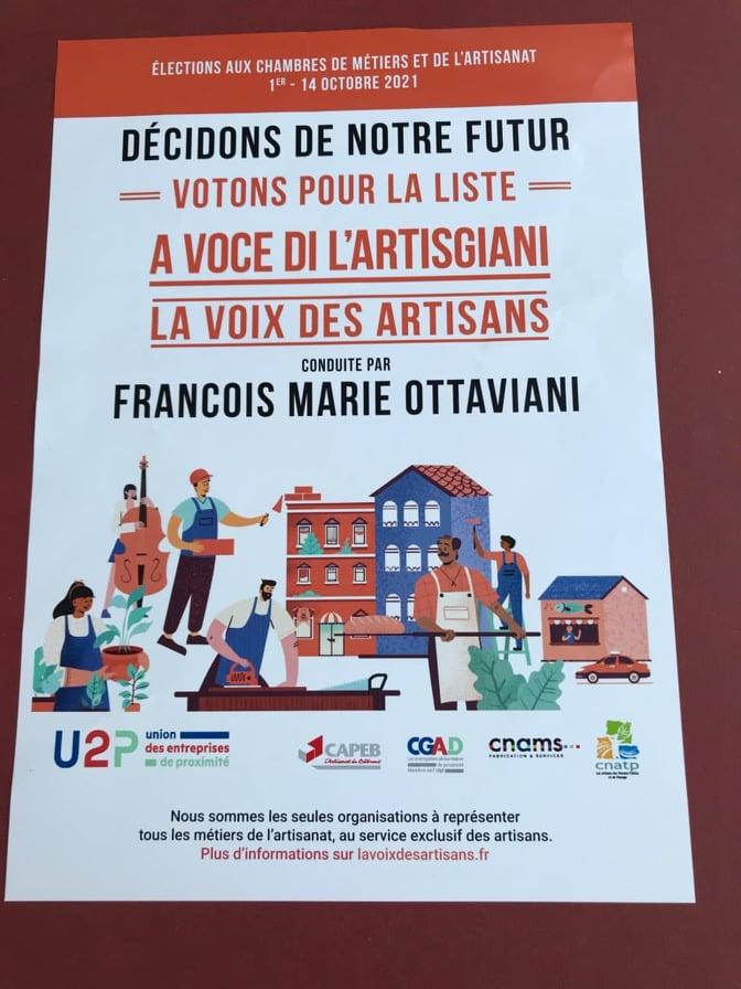 """François-Marie Ottaviani a choisi d'être """"la voix des artisans""""."""