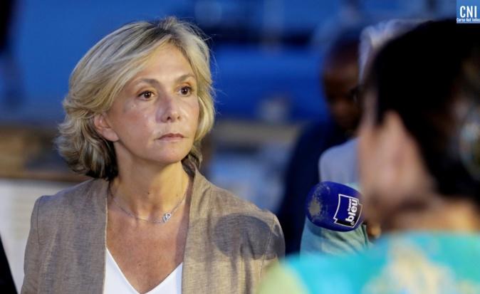 Valérie Pécresse à son arrivée à Ajaccio - Photos Michel Luccioni