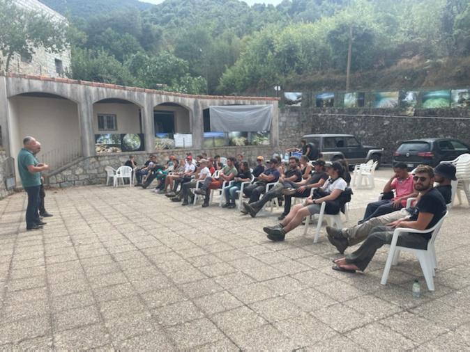 Les étudiants de premiere année de BTS à  Arghjusta-Muricciu