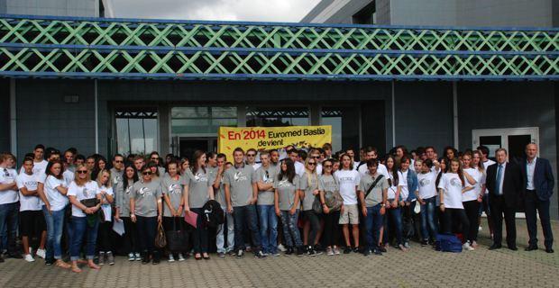 Les 250 étudiants, lors de la rentrée, le 20 septembre.