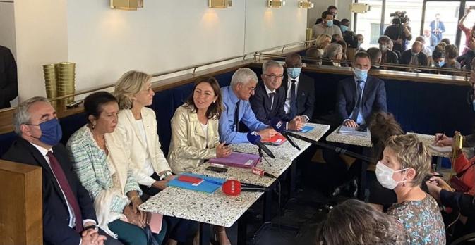Conférence de presse des présidents de Régions de France à l'issue de la réunion avec Jean Castex à Matignon.