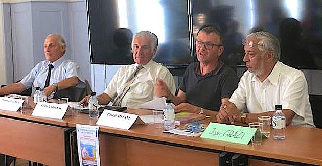Jacques Fusina, Sixte Ugolini, Pascal Ottavi et Jean Grazi.
