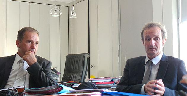 Philippe Tejedor et Alain Rousseau.