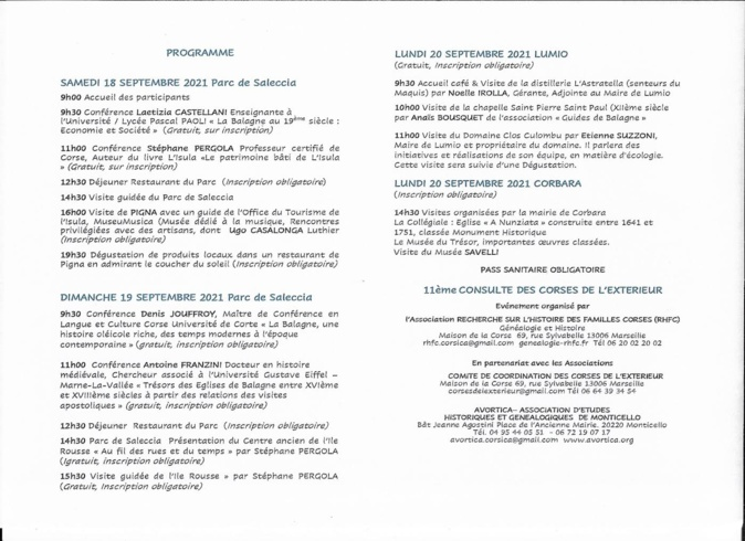 """""""Recherche sur l'histoire des familles corses"""" : trois jours de rencontres en Balagne"""