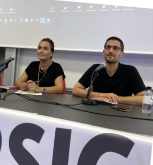 Josepha Giacometti et Petru Anto Tomasi.Photo Corsica Libera.