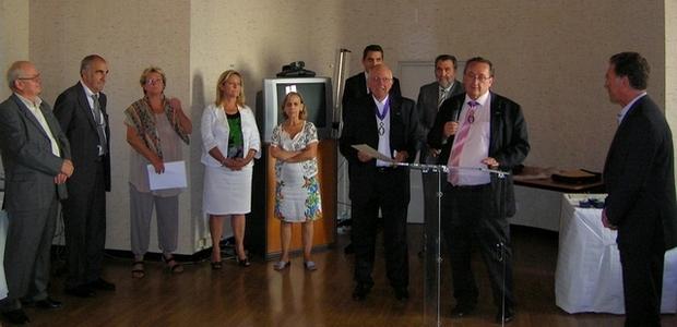 Le recteur de l'Académie de Corse Michel Barat, a remis mercredi les Palmes Académiques 2013 à Ajaccio. (Photo Yannis-Christophe Garcia)