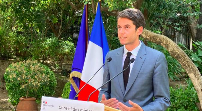 Gabriel Attal à Ajaccio. (Photo et vidéo Michel Luccioni)