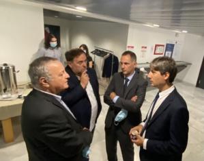 François Alfonsi, Oriol Junqueras, Jordi Solé et Gilles Simeoni à l'Assemblée de Corse.