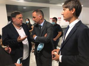 Oriol Junqueras, Gilles Simeoni et Jordi Solé.