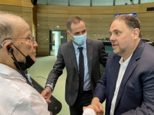 Max Simeoni, Oriol Junqueras et Gilles Simeoni.