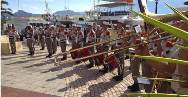 La musique de la Légion Etrangère à Calvi pour la Saint Michel