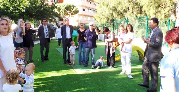 Pour les activités de plein air à la crèche municipale de Montesoro