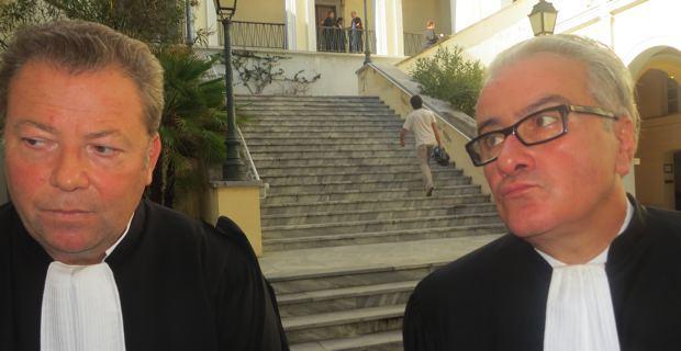 Me Olivier Morice et Me Christian Scolari, les avocats de François Levan.