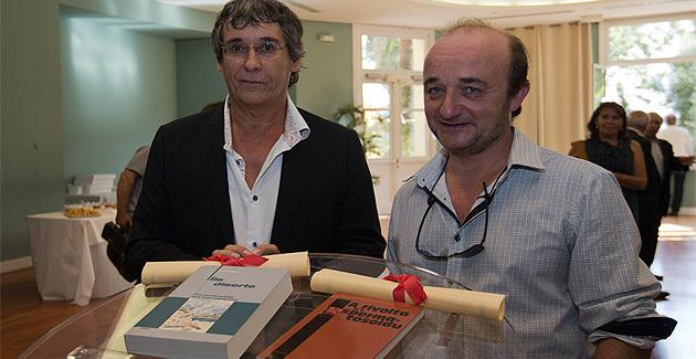 Paulu Desanti (à droite) et Charlie Galibert