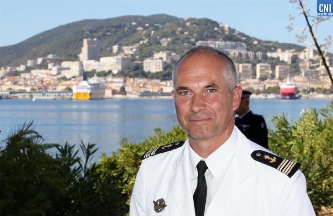 Le capitaine de frégate Grégoire Chavignot a pris ses fonctions de commandant de la base navale d'Aspretto et de la Marine en Corse -  Photos Michel Luccioni
