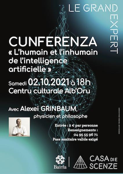 Alexeï Grinbaum à Bastia. «L'intelligence artificielle peut-elle nous rendre inhumains ?»