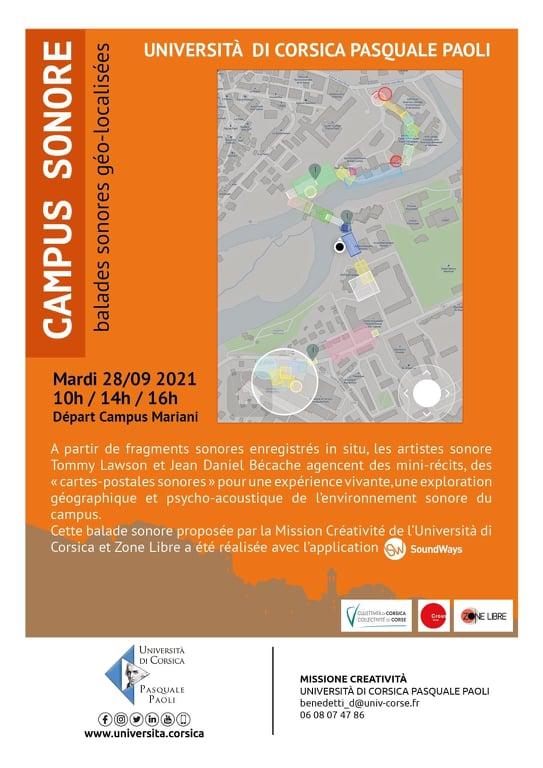 Corte : Une balade sonore pour découvrir l'université de Corse