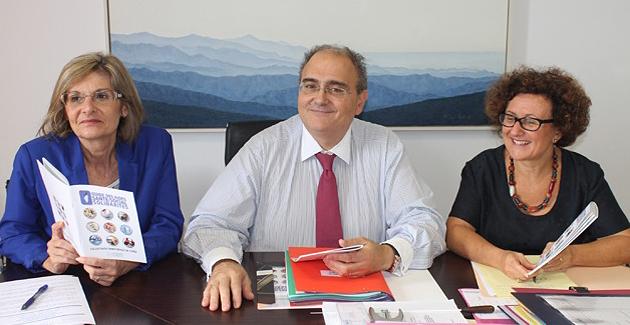 Paul Giaccobi entouré de Maria Guidicelli et Josette Risterucci