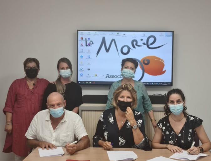 Les hôpitaux Eugénie et Castelluccio d'Ajaccio ont renouvelé ce vendredi 1er octobre, le partenariat qui les lient à l'association la Marie-Do depuis près de sept ans. Crédits Photo : Association La Marie-Do