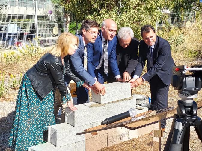 La première pierre de la salle de spectacles Calvi-Balagne a été posée