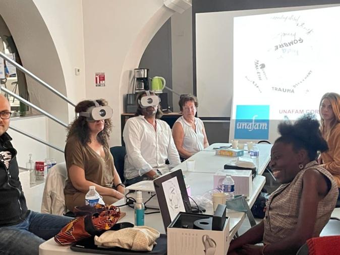 Les bénévoles de l'UNAFAM testent leur atelier d'immersion prévu le samedi 9 octobre à Ajaccio. Crédits Photo : UNAFAM