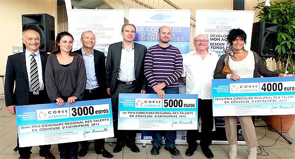 Couveuse d'entreprises : Les talents récompensés à Bastia