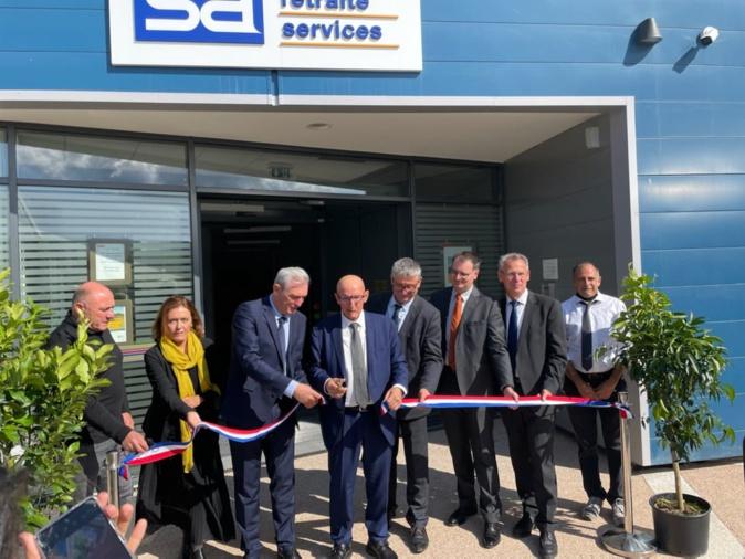 Inauguration en grandes pompes pour le nouveau siège de la MSA de Corse à Ajaccio ce lundi 11 octobre. Crédits Photo : MSA de Corse