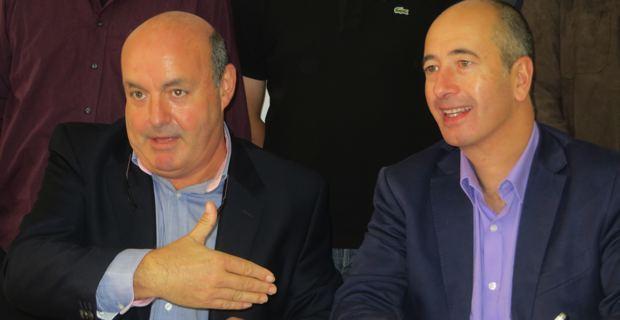 Léo Battesti, Président de la Ligue corse des Echecs, et Pierre-Noël Luiggi,, PDG d'Oscaro.