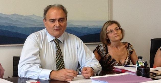 Tchernobyl : Paul Giacobbi et Josette Risterucci à Paris