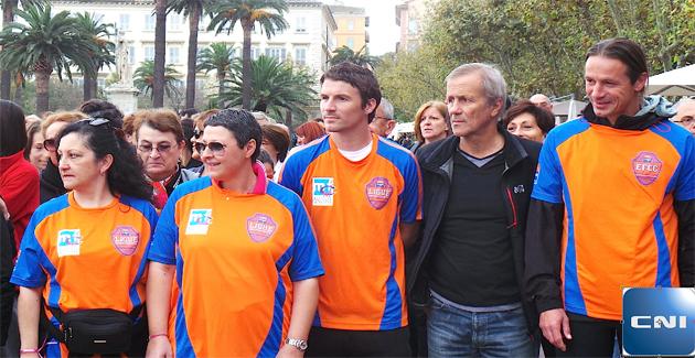 Bastia : Yannick Cahuzac et Lilian Nalis marchent contre le cancer