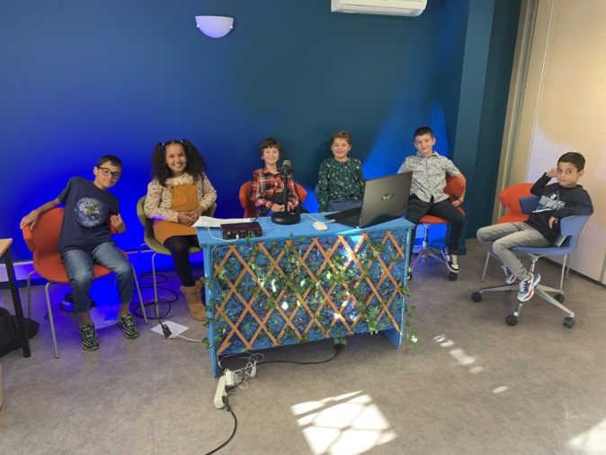 Les élèves de CE2 de l'école François Amadei  auteurs de ce MOOC sur le climat.
