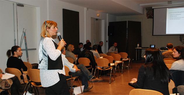 Elisabeth Pianelli a animé les ateliers de la journée