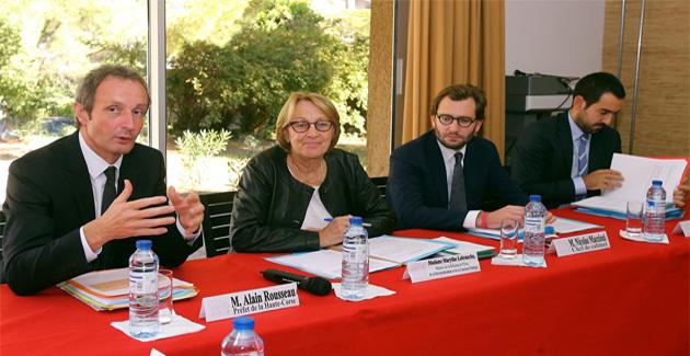 Séance de travail avec Alain Rousseau, préfet de Haute-Corse