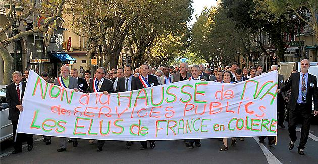 Bastia : Les élus d'Amorce dans la rue